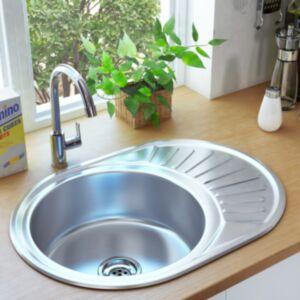 Pood24 köögivalamu sõela ja haisulukuga, ovaalne, roostevaba teras