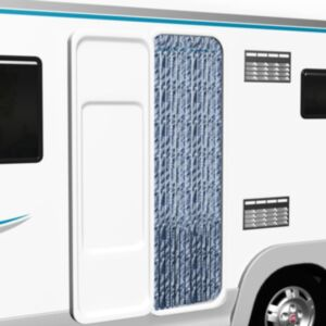 Pood24 putukakardin sinine, valge ja hõbedane 56 x 185 cm šenill