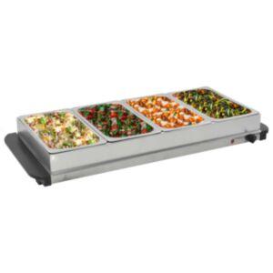 Pood24 serveerimisnõu, roostevaba teras, 400 W, 4 x 2,5 l