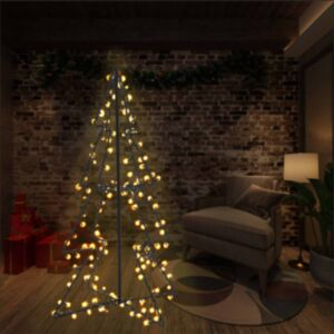 Pood24 koonusekujuline jõulupuu 160 LEDi, tuppa ja õue, 78 x 120 cm
