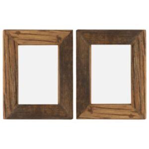 Pood24 fotoraamid 2 tk 25 x 30 cm, tugev taastatud puit ja klaas