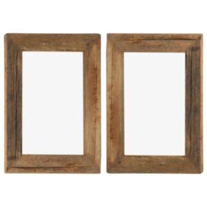 Pood24 fotoraamid 2 tk 30 x 40 cm, tugev taastatud puit ja klaas