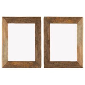 Pood24 fotoraamid 2 tk 34 x 40 cm, tugev taastatud puit ja klaas