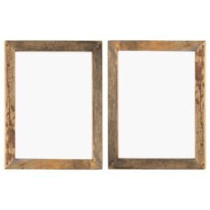 Pood24 fotoraamid 2 tk 50 x 60 cm, tugev taastatud puit ja klaas