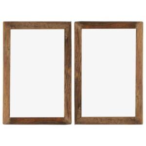 Pood24 fotoraamid 2 tk 50 x 70 cm, tugev taastatud puit ja klaas
