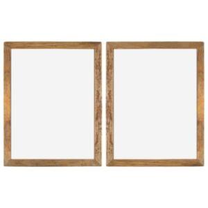 Pood24 fotoraamid 2 tk 90 x 70 cm, tugev taastatud puit ja klaas