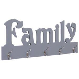 Pood24 seinale kinnitatav riidenagi, FAMILY, hall, 74 x 29,5 cm