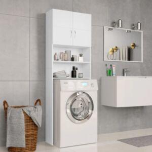 Pood24 pesumasinakapp, valge, 64 x 25,5 x 190 cm, puitlaastplaat