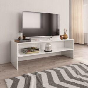 Pood24 telerikapp, kõrgläikega valge, 120 x 40 x 40 cm, puitlaastplaat