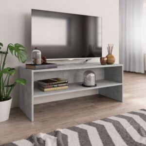 Pood24 telerikapp, betoonhall, 100 x 40 x 40 cm, puitlaastplaat