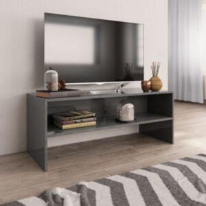 Pood24 telerikapp, kõrgläikega hall, 100 x 40 x 40 cm, puitlaastplaat