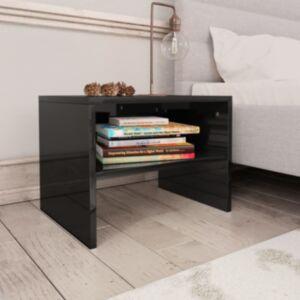 Pood24 öökapp, kõrgläikega must, 40 x 30 x 30 cm, puitlaastplaat