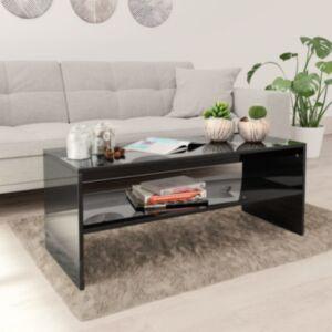 Pood24 kohvilaud, kõrgläikega, must, 100 x 40 x 40 cm puitlaastplaat