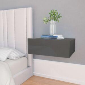 Pood24 seina öökapp kõrgläikega hall 40 x 30 x 15 cm puitlaastplaat