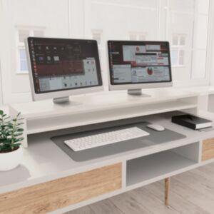 Pood24 monitorialus, valge, 100 x 24 x 13 cm, puitlaastplaat