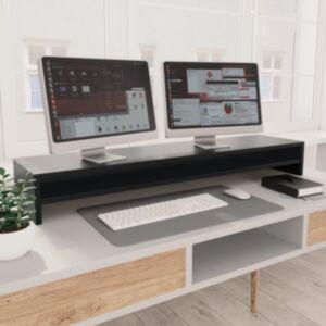 Pood24 monitorialus, must, 100 x 24 x 13 cm, puitlaastplaat