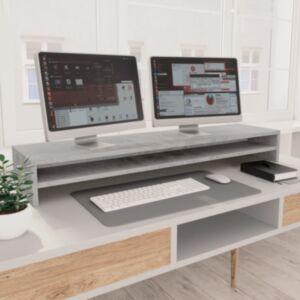Pood24 monitorialus, betoonhall, 100 x 24 x 13 cm, puitlaastplaat