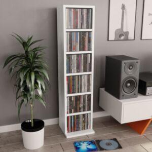 Pood24 CD-kapp, valge, 21 x 16 x 88 cm, puitlaastplaat