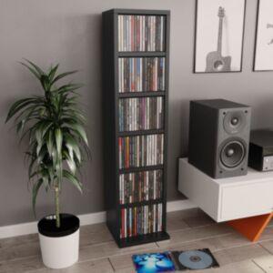 Pood24 CD-kapp, must, 21 x 16 x 88 cm, puitlaastplaat