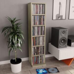 Pood24 CD-kapp, Sonoma tamm, 21 x 16 x 88 cm, puitlaastplaat