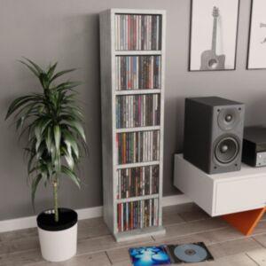 Pood24 CD-kapp, betoonhall, 21 x 16 x 88 cm, puitlaastplaat