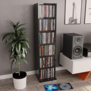 Pood24 CD-kapp, kõrgläikega must, 21 x 16 x 88 cm, puitlaastplaat