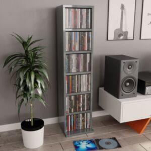 Pood24 CD-kapp, kõrgläikega hall, 21 x 16 x 88 cm, puitlaastplaat