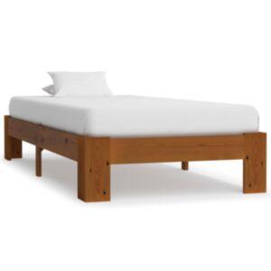 Pood24 voodiraam, helepruun, tugevast männipuidust, 100 x 200 cm