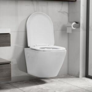 Pood24 seinale kinnitatav ääreta keraamiline tualettpott, valge