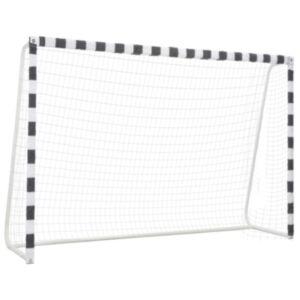 Pood24 jalgpallivärav 300 x 200 x 90 cm metall must ja valge