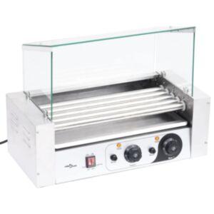 Pood24 5 hot dogi grill klaaskattega, 1000 W