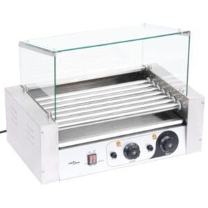 Pood24 7 hot dogi grill klaaskattega, 1400 W