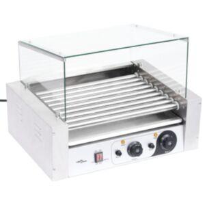 Pood24 9 hot dogi grill klaaskattega, 1800 W