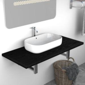 Pood24 vannitoamööbel, must, 90 x 40 x 16,3 cm