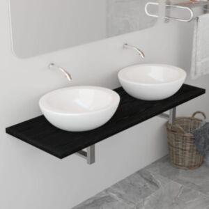 Pood24 vannitoamööbel, must, 120 x 40 x 16,3 cm