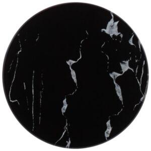 Pood24 lauaplaat must, Ø 30 cm, marmoritekstuuriga klaas