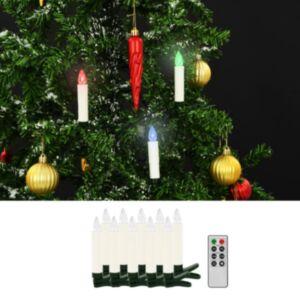 Pood24 juhtmevabad LED-jõuluküünlad puldiga, 10 tk, RGB