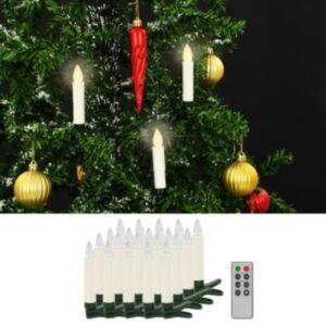 Pood24 juhtmevabad LED-küünlad puldiga, 20 tk, soe valge