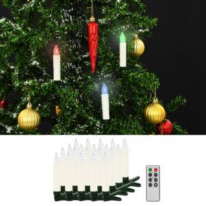 Pood24 juhtmevabad LED-jõuluküünlad puldiga, 20 tk, RGB
