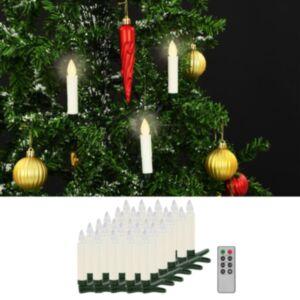 Pood24 juhtmevabad LED-küünlad puldiga, 30 tk, soe valge