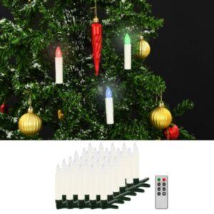 Pood24 juhtmevabad LED-jõuluküünlad puldiga, 30 tk, RGB