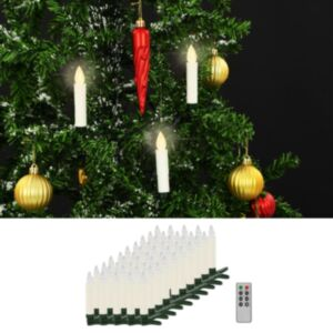 Pood24 juhtmevabad LED-küünlad puldiga, 50 tk, soe valge