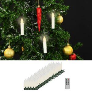 Pood24 juhtmevabad LED-küünlad puldiga, 100 tk, soe valge