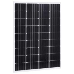 Pood24 päikesepaneel 100 W monokristalliline alumiinium ja turvaklaas