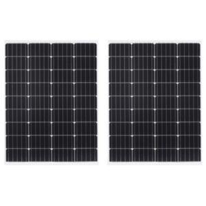 Pood24 päikesepaneelid 2 tk 100 W alumiinium ja turvaklaas
