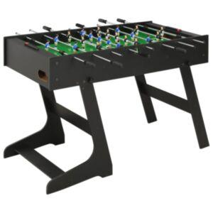 Pood24 kokkupandav lauajalgpalli laud 121 x 61 x 80 cm, must