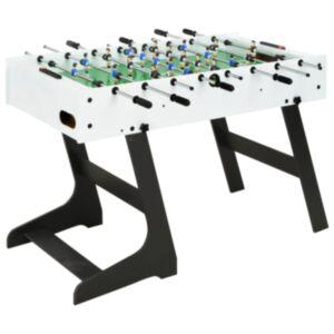 Pood24 kokkupandav lauajalgpallilaud 121 x 61 x 80 cm, valge