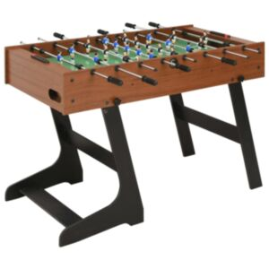 Pood24 kokkupandav lauajalgpallilaud 121 x 61 x 80 cm, pruun