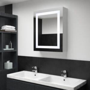Pood24 LEDidega vannitoa peegelkapp, 50 x 13 x 70 cm