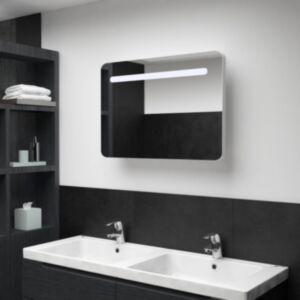 Pood24 LEDidega vannitoa peegelkapp, 80 x 11 x 55 cm